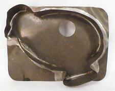 Antique Tin Cookie Cutter Baby Chick Chicken Chubby Fluffy Folk Art Tinsmith