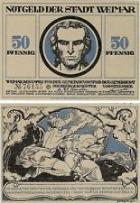 Germany 50 Pfennig 1921 Notgeld Weimar UNC Uncirculated Banknote