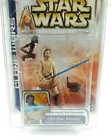 Star Wars Clone Wars Saga Collection Obi-Wan Kenobi General of Rep #45 MOC 2003