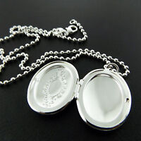 NECKLACE CHAIN 925 STERLING SILVER S/F BEAD LINK ANTIQUE LOCKET PENDANT 40cm