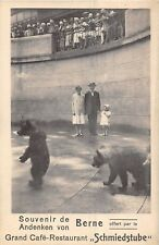 POSTCARD  ANIMALS   BROWN   BEAR    BERN  Zoo  Souvenir  Grand  Cafe
