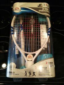 EA Sports 3 in 1 Sports Pack Wii Accessory Set NEW Bat Tennis Racket Golf Club