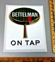 Gettelman beer sign bar wall 3-D tacker tapper vintage brewery on tap Milwaukee