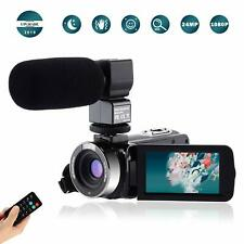 Video Camcorder Full HD 1080P Vlogging 24MP 16X Digital Zoom 3.0'' LCD