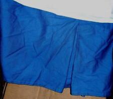 """Ralph Lauren Bright Blue QUEEN Bedskirt Beachside Preppy Tailored 15"""" Drop"""