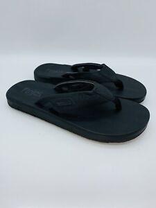 Flojos Men's Hydro Flip Flop / Slide Sandals - Black US 9                 #A-39