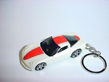 NEW 3D WHITE 2003 CHEVROLET CORVETTE C6 CUSTOM KEYCHAIN keyring chevy