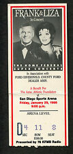 Frank Sinatra Liza Minnelli 1988 Concert Ticket Stub San Diego Strangers In The