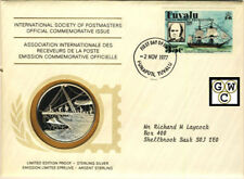 International Society of Postmasters Medallic Cover -London Expedition to Tuvalu