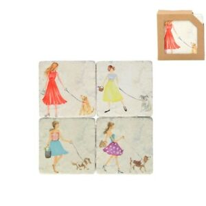 Girl and her dog Coasters by Gisela Graham