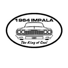 Chevy Impala 1964 King of Cool Window sticker decal Hot Rod