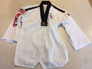Tiger Claw Lightweight Student Uniform Tae Kwon Do Karate Martial Arts Yth Sz 2