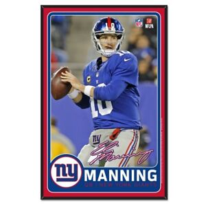 New York Giants Wincraft NFL #10 Eli Manning 11x17 Wood Sign With Bevel