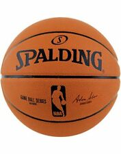 Spalding NBA Logo Game Ball Replica Version Deep Channel Outdoor Basketball