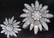 JOAN RIVERS Swarovski Crystalized Flower Pin Set
