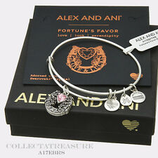 Authentic Alex and Ani Fortune's Favor Rafaelian Silver Expandable Charm Bangle