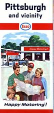 1966 Humble / Esso Road Map: Pittsburgh NOS