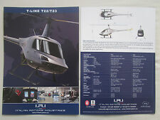 DOCUMENT 2015 RECTO VERSO IRI ITALIAN ROTOR T-LINE T22/T23 LIGHT HELICOPTER