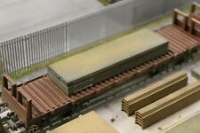 BULKSCENE - MODEL STEEL SLABS 90mm x 25mm (x3) OO GAUGE WAGON LOADS 1/76 - NEW