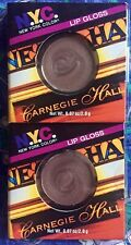 2 Sealed N.Y.C. New York Color Scene Stealers Lip Gloss Carnegie Hall 544A05