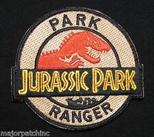 JURASSIC PARK RANGER SECURITY OFFICER COSTUME UNIFORM COSPLAY MOVIE IRON PATCH