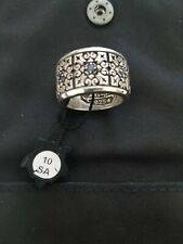 Night Rider Drextyn Men's Ring Jewelry Size 10 with blue sapphires