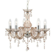 Searchlight 5 Light Marie Therese Style Chandelier With Mink Acrylic Droplets