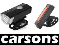 LED Anteriore e Posteriore Comet USB ricaricabile BICICLETTA Luci Set Kit Mountain-carsons