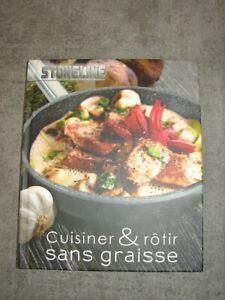 """Livre de recettes Stoneline """"cuisiner sans graisse"""" comme neuf"""