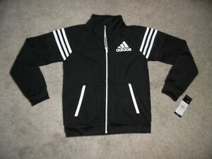 Brand New! Adidas Tiro and Tricot Jackets Collegiate Black / White Size 8 Kids