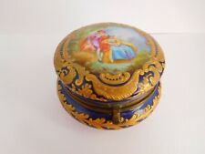 More details for very pretty antique sevres hand painted trinket box