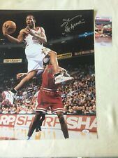 Allen Iverson signed 16x20 with The Answer comes with JSA