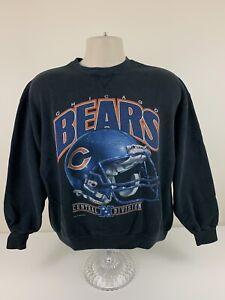 VTG 1993 Chicago Bears Black Crew Neck Sweater Mens Size M Medium USA Made EUC