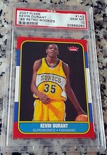 KEVIN DURANT 2007 Fleer 1986 SP Rookie Card RC PSA 10 GEM MINT MVP GS Warriors