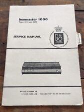 Beomaster 1000 Typ 2313,2314 - Radio Service Manual b&o - L91
