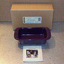 Longaberger Eggplant Pottery Small Loaf Dish ~ New in Original Longaberger Box!