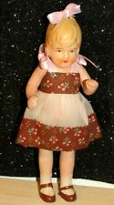 "Antique Vintage Bisque Doll Strung Jointed Made in Japan 6"" Blonde Beauty"