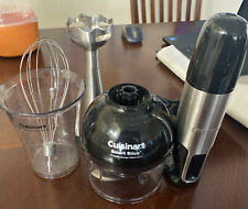 Cuisinart Smart Stick Hand Blender W/ Whisk & Chopper Attachments CSB-77