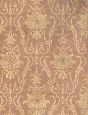 Pink and Beige Damask Wallpaper PT71346