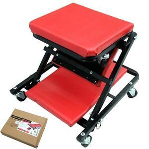 "Neilsen Mechanic Foldable Z Creeper Mobile Work Chair Stool Trolley Seat 36"""