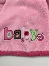 Carters Just One Year Blanket Baby Ladybug Lovey Security Crib Nursery