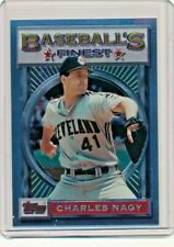 1993 Topps Finest #58 Charles Nagy Cleveland Indians Baseball Card