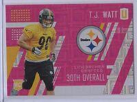 2017 Panini Unparalleled T.J. Watt Steelers Pink /299