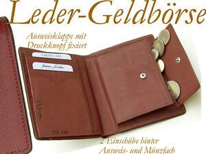 Reise- Lederbörse Herrenbörse Geld-Börse/Beutel braun Leder/2