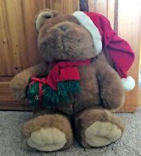 Christmas Teddy Bear Holding présente Peluche Jouet Doux Décoration