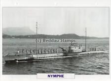 1926 NYMPHE Sirene-Class Submarine Ship / France Warship Photograph Maxi Card