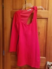 WOMENS RED OFF ONE SHOULDER DRESS SIZE LARGE BY ARDEN B