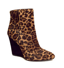 New PRADA Size 6.5 Wedge Leopard Print Ankle Bootie 36 1/2  Boots 6 1/2 Shoes