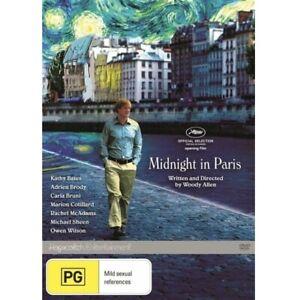 Midnight In Paris (DVD, PAL Region 4) Owen Wilson, Woody Allen, Kathy Bates, NEW