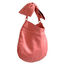Red valentino Women's Pink 100 Leather Bow Shoulder Hobo Bag